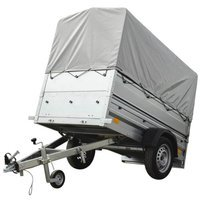 750kg trailer for sale with jockey wheel, side extensions, trailer frame and tarpaulin - Garden Trailer 200