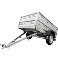 Leaf-spring trailer 200x125 Garden Trailer 205/R 750 kg with side extensions