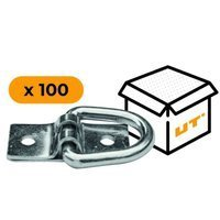 Set: 100x D-ring pad eye plates H-25 mm (13.25)