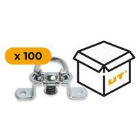 Set: 100x oval eyelet staples (19.51.5)