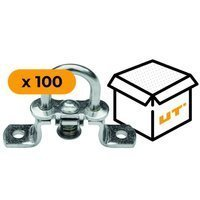 Set: 100x stainless steel turnable staples H - 19 mm