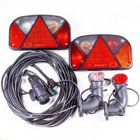 Trailer light kit: Multipoint II rear lights, Superpoint II side marker lights + 7m 13 PIN wiring loom