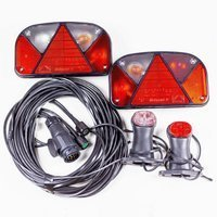 Trailer light kit: Multipoint II rear lights, short Superpoint II side marker lights + 7m 13 PIN wiring loom