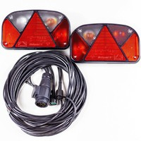 Trailer lighting kit: Aspöck Multipoint II rear lights + 7m 13 PIN wiring loom