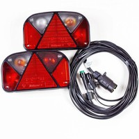 Trailer lighting set: Aspöck Multipoint II rear lights + 4.5m 7 PIN wiring loom