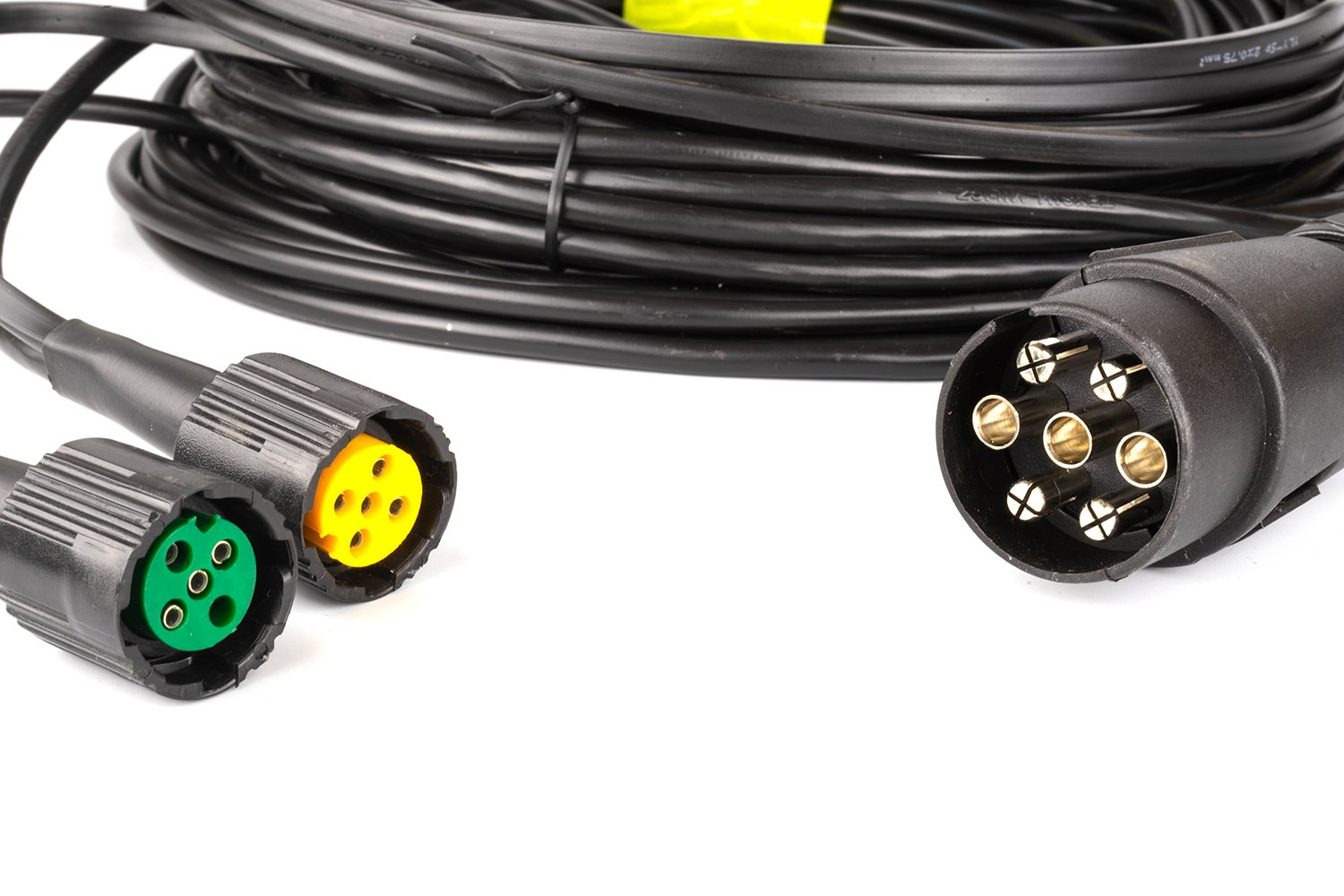 Wiring harness for light trailers 3015 bajonet 5 pin plus 7 pin on
