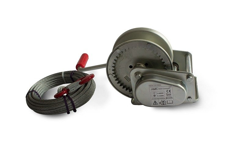 Hand winch AL-KO 900C 8 75:1 900 kg with cable trailer