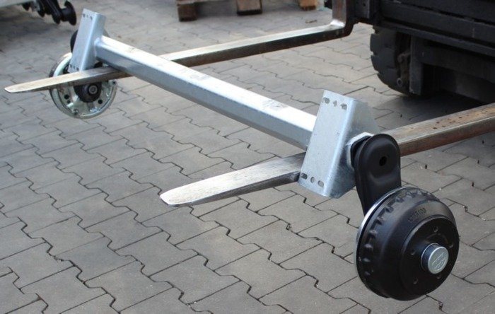 Braked axle for boat trailer AL-KO 1500 mm 1000 kg 5x112 W-PROOF