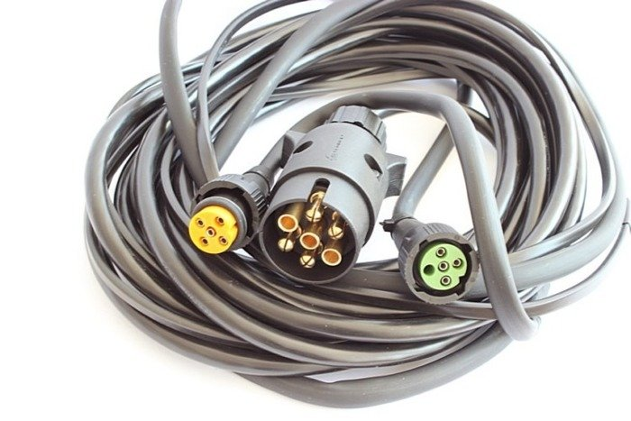 Wiring harness for light trailers 7 pin plug 5 pin bajonet