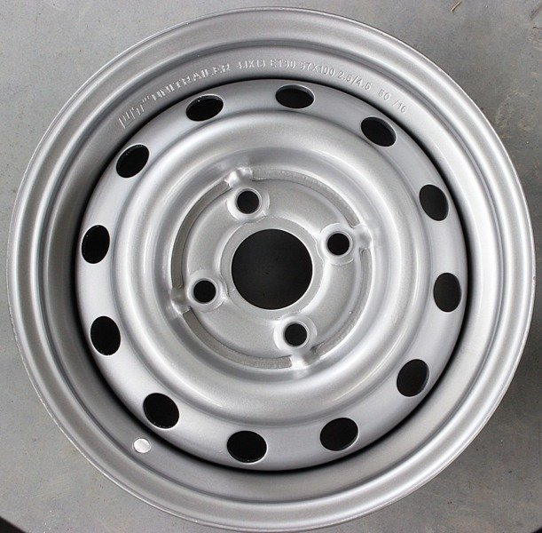 13 inch steel rim 4x100 mm for trailer