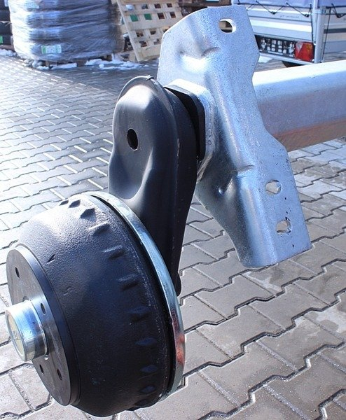 2x axle AL-KO 1350 kg, coupling unit AL-KO 251S and 2 x breakaway cable