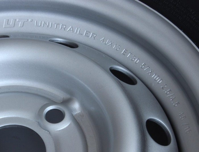 2x wheel 155/70 R13 for trailers ET30 4x100 Linglong tyre Unitrailer 2 pcs.