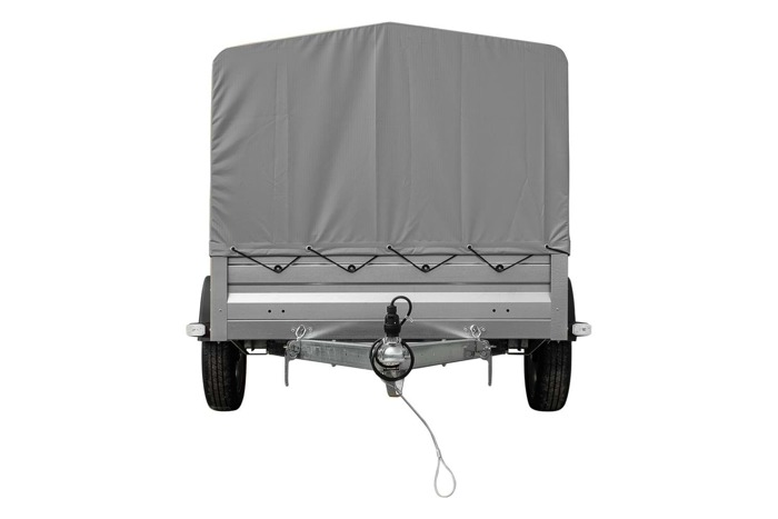 750kg trailer - 200x125 cm transport surface with side bars and tarpaulin - Garden Trailer 205