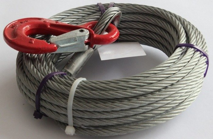 AL-KO cable for winch  900 BASIC and 901 PLUS 900 kg 12,5 m trailer