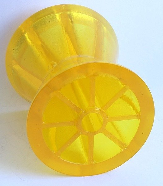 Bow roller PVC yellow Knott - for boat trailers