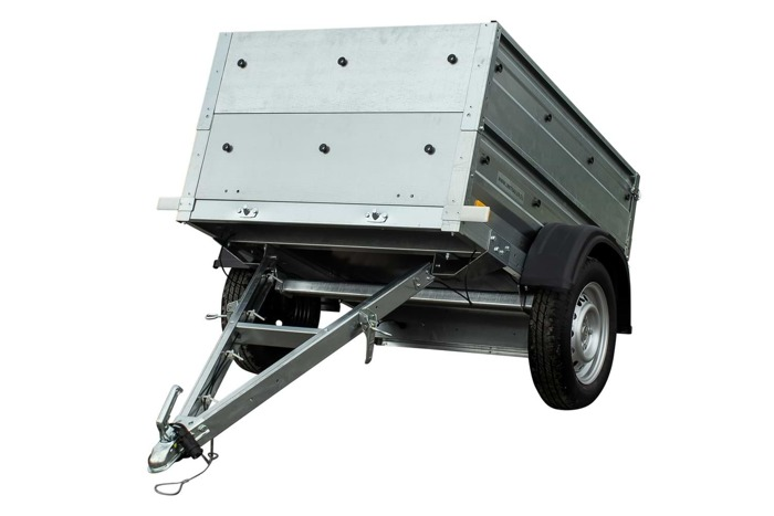 Easy store car trailer trailer with side extensions 150x106 cm GVW 750kg Garden Trailer 150
