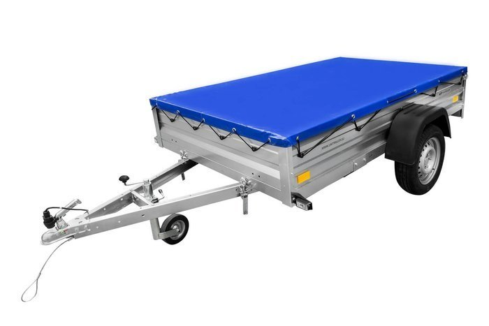 Flat tarpaulin 200x125 cm for Garden Trailer 205 - BLUE