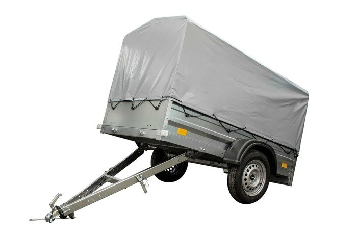 Garden Traler 200 Unitrailer with high tarpaulin cover. GVW : 750 kg