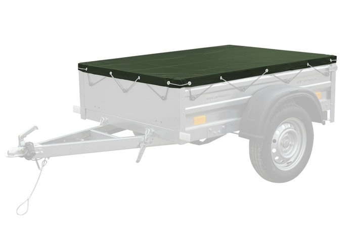 Green trailer tarp 150x106 for Garden Trailer 150