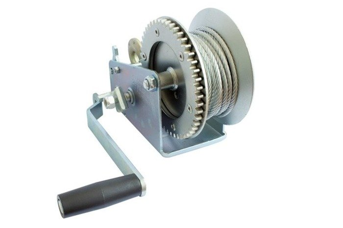 Hand winch for boat trailers 1135 kg with rope without cover Knott