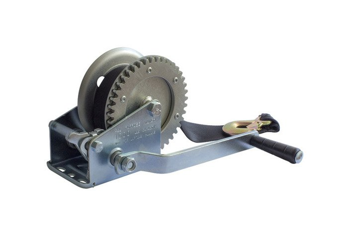 Hand winch for boat trailers 450 kg with belt without cover Knott