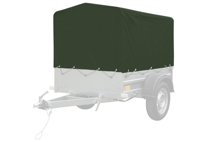 High frame and cover (green) for Garden Trailer 150