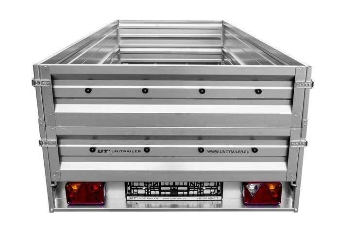 Large car trailer with side exntesions Garden Trailer 236 - 236x125 cm