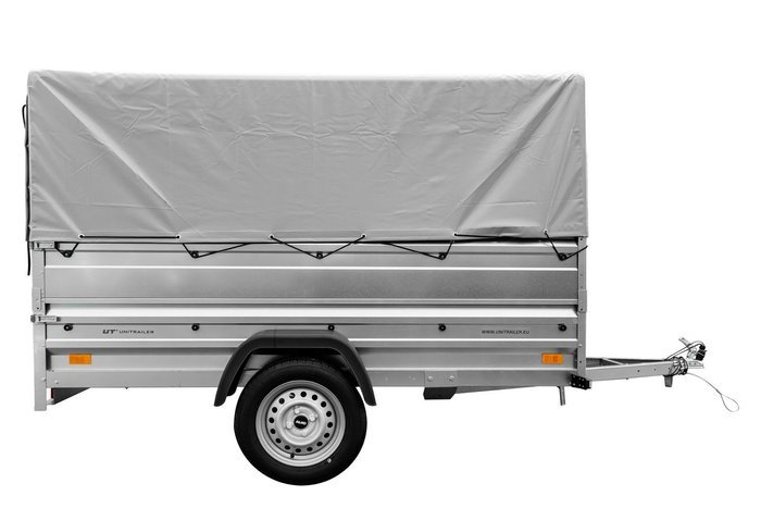 Large trailer with cover and side extensions Garden Trailer 236 - 236x125 cm