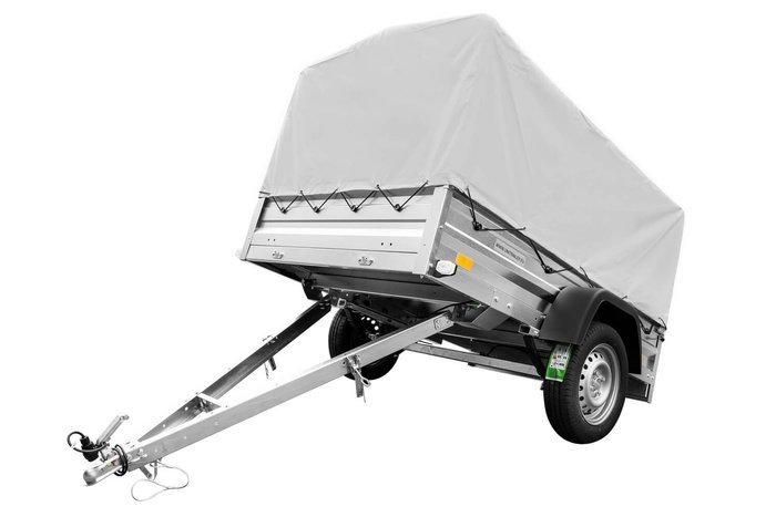 Leaf-spring trailer 200x125 Garden Trailer 205/R 750 kg with high tarpaulin