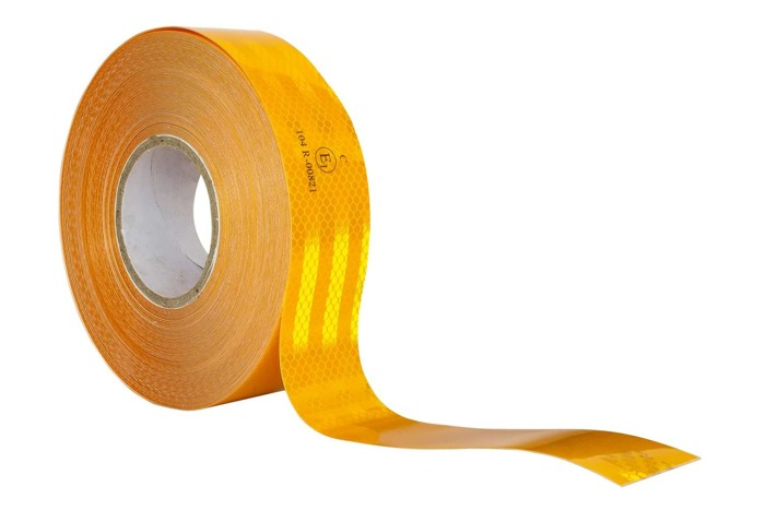 ORANGE REFLECTIVE TAPE FOR TRUCKS AND TRAILERS - 1 m
