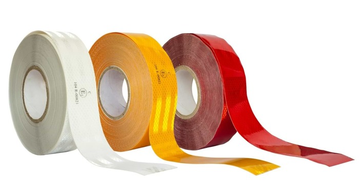 ORANGE Reflective Tape for Trucks and Trailers - 1 roll / 48m