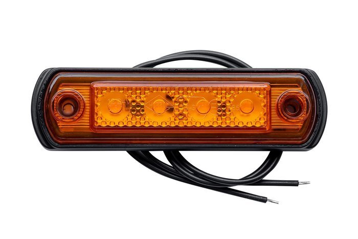 Orange LED marker light on a rubber stand by Horpol
