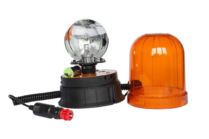 Orange warning light H1 - manget-type application - flashing beacon