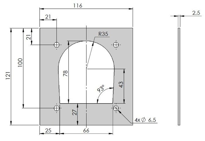 Plate for floor lashing ring for trailers