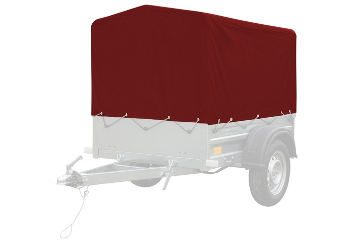 RED trailer tarpaulin cover and frame H-800 for Garden Trailer 150