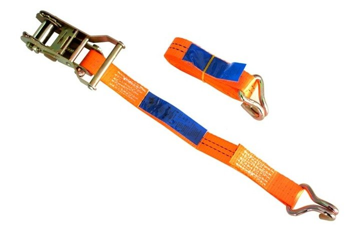 Ratchet strap for trailers - 4m/25 mm/1t