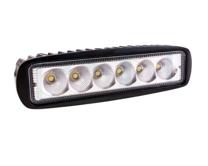 Rectangular work lamp - 6 LED diodes - 1250 lumens