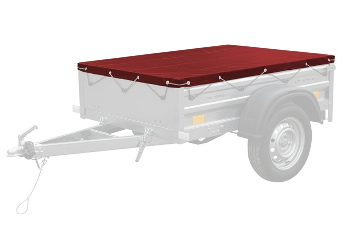 Red flat tarpaulin 150x106 for Garden Trailer 150