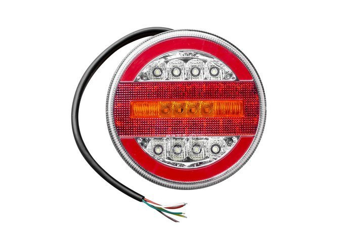 Round rear LED lamp 12-24V with 4 functions