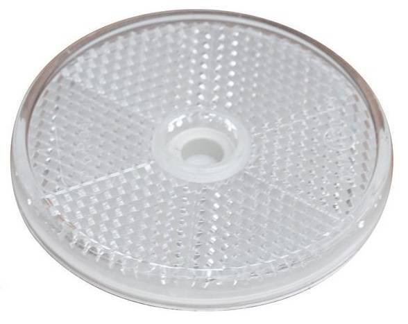Round white reflector 60 mm with 6 mm mounting hole