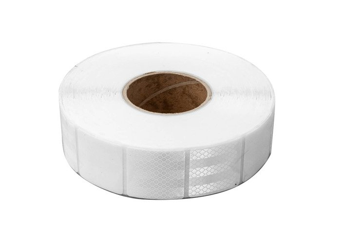 Segmented white reflective tape - one roll (45 meters long)