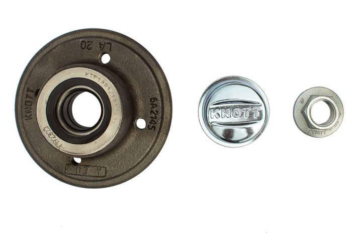 Set: Wheel hub and bearing by KNOTT 100x4