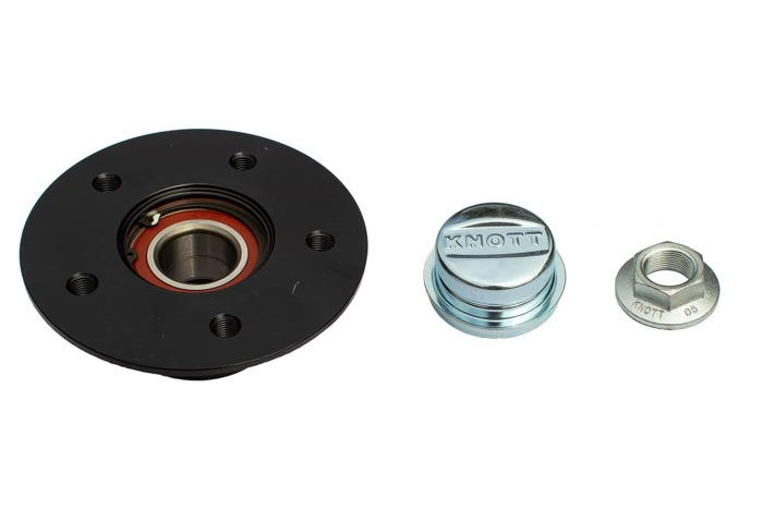 Set: Wheel hub assembly and bearing kit by KNOTT 112x5