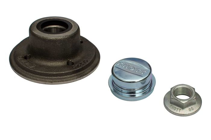 Set: Wheel hub with bearing by KNOTT 98x4