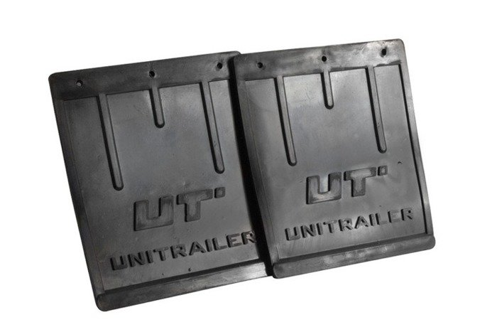Set of 2 rubber mudflaps, big - Unitrailer