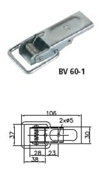 Set of tailgate connector : BV 60-1 with BVG 60-A - Winterhoff