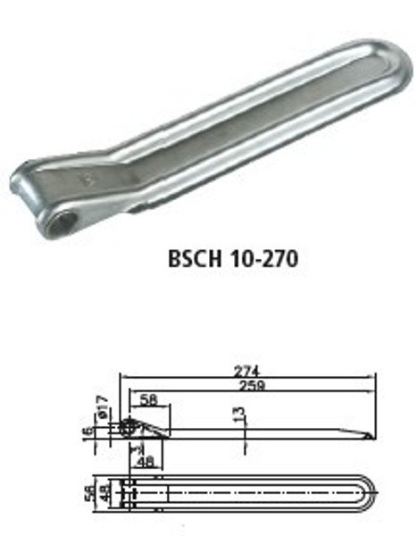 Set of tailgate hinges BSCH 10-270 and BSCHG 10 A - Winterhoff