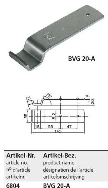 Set: trailer tailgate connector BV 20-3 and BVG 20-1