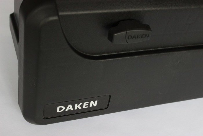Tool box for van Daken BLACKIT 750 with a double lock and a set of handles