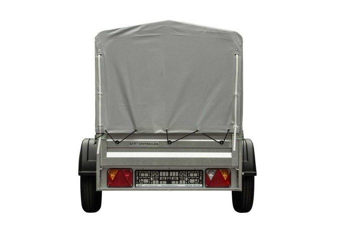 Towing trailer 200x106 cm with side bars and tarpaulin GVW 750 kg Garden Trailer 200